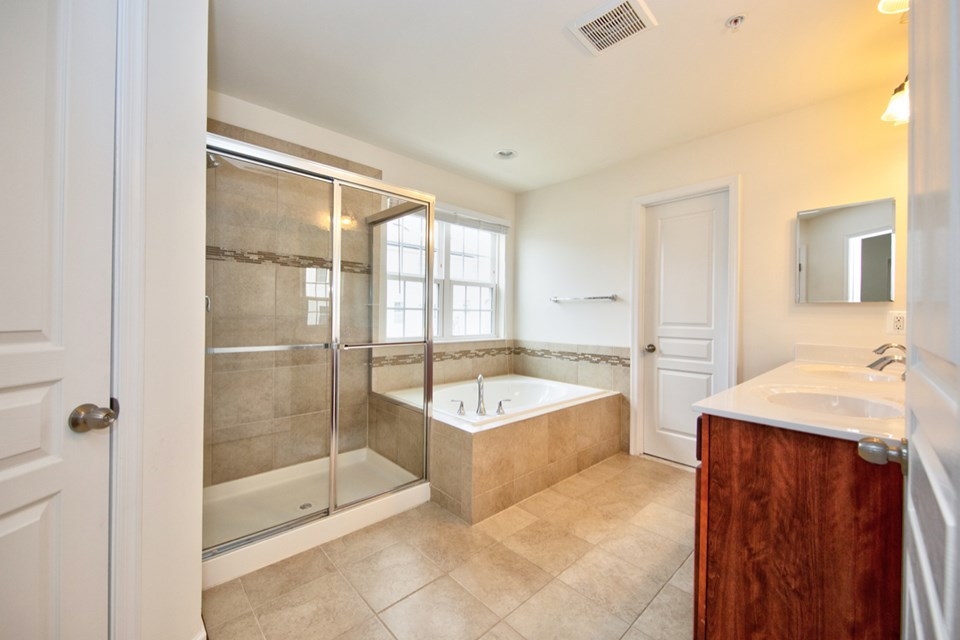 master bathroom with separate shower & tub