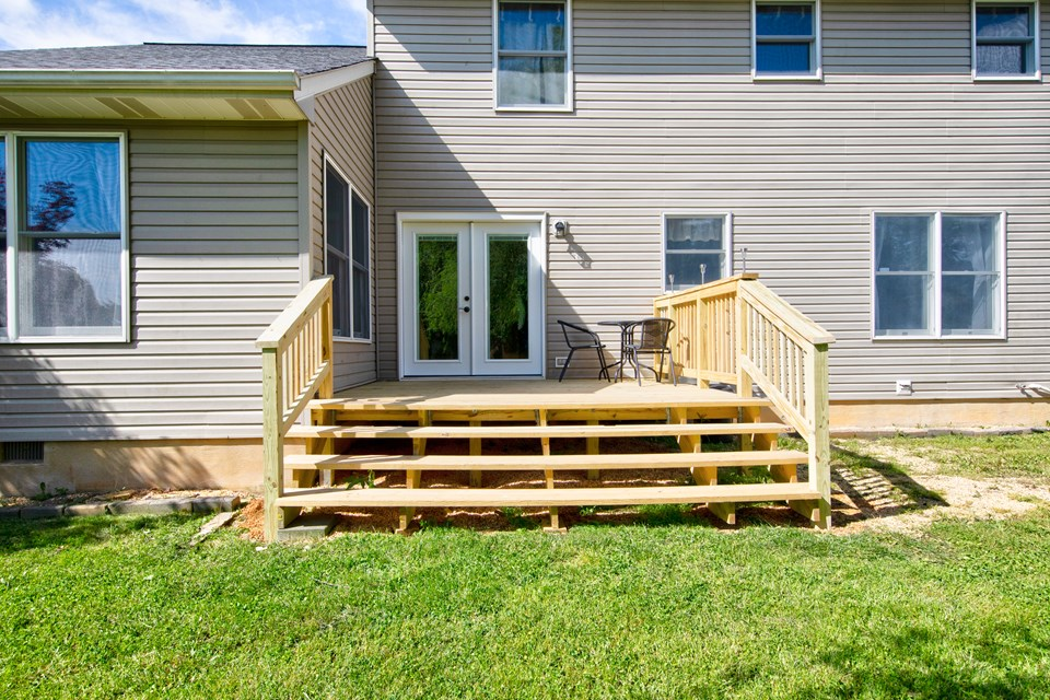 new deck to rear yard