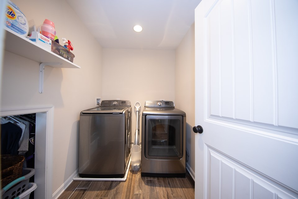 laundry room upstairs