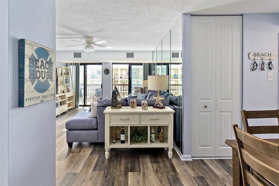hardwood floor entryway
